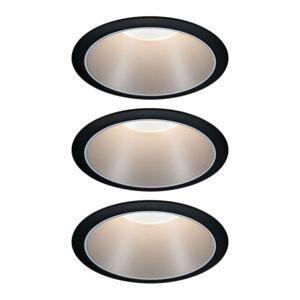 Paulmann Paulmann Cole bodové LED, striebro-čierne 3 kusy