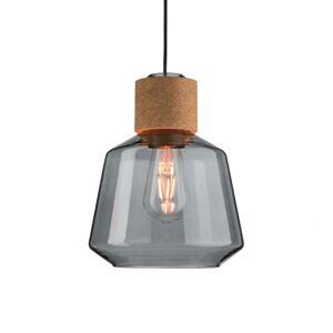 Paulmann Paulmann Elia sklenená závesná lampa s korkom