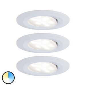 Paulmann Paulmann zapustené LED Calla biele zmena farby 3ks