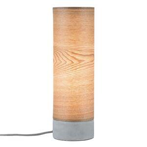 Paulmann Paulmann Skadi stolná lampa s drevom a betónom