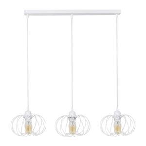 EULUNA Závesná lampa Kula, 3-plameňová, biela