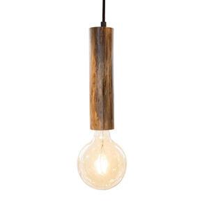 Nino Leuchten Závesná lampa Tronco, 1-pl., drevené kyvadlo 25cm