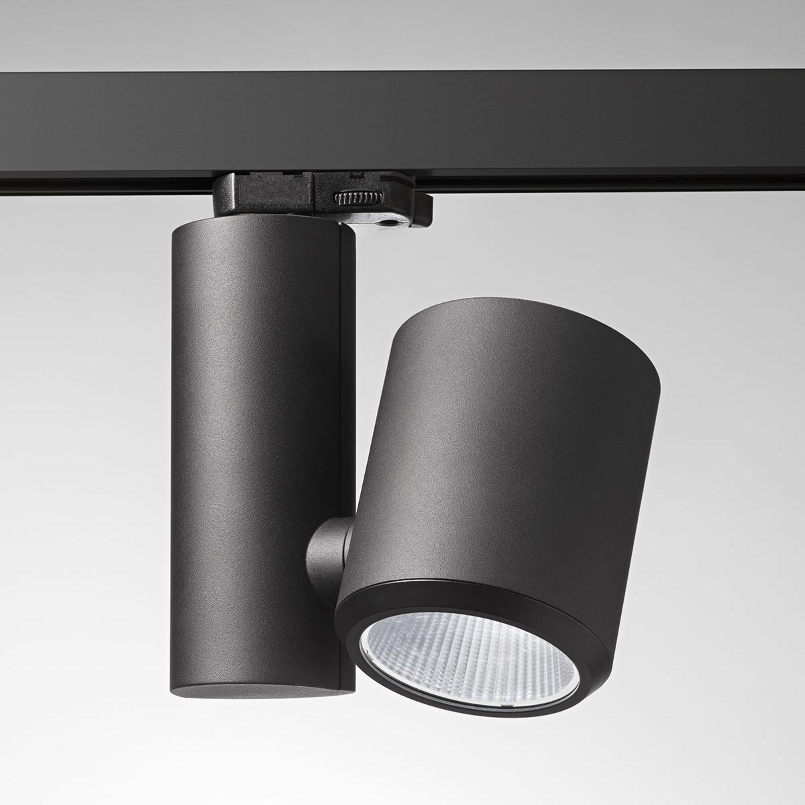 Egger Licht Čierne koľajnicové LED svetlo Kent Meat 15°