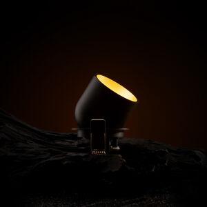 THE LIGHT GROUP SLC Cup LED downlight čierne/zlaté 2700K