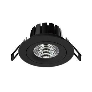 THE LIGHT GROUP SLC DL04 zapustené LED svietidlo čierne 2700K