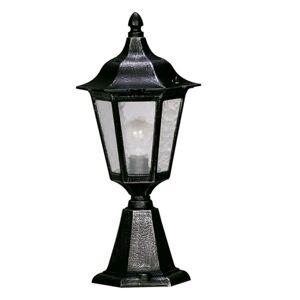 Albert Leuchten Soklové svietidlo 541 katedrálové sklo, čierna-Ag