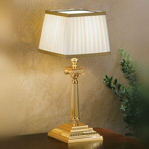 Masiero Stolná lampa Sarafine tienidlo Pongé, vysoká 41cm