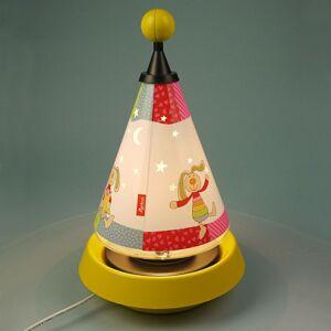 Niermann Standby Stolná lampa nočné svetlo Carrousel Rainbow Rabbit