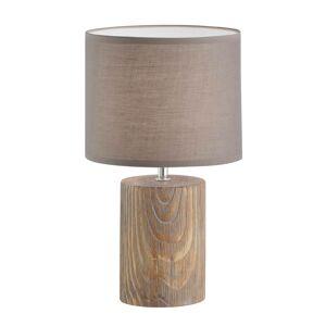 FISCHER & HONSEL Stolná lampa Malik drevený vzhľad, 43 cm
