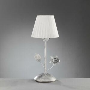 EULUNA Stolná lampa Rose s plisovaným tienidlom v bielej