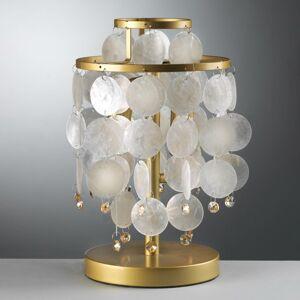 EULUNA Stolná lampa Ruben s perleťovými doskami