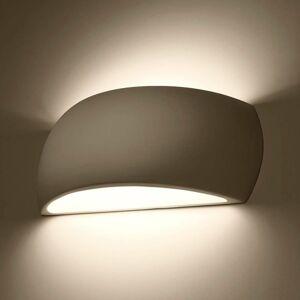 EULUNA Nástenné svietidlo Curve up/down z bielej keramiky