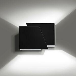 EMIBIG LIGHTING Nástenné svietidlo Frost hranatý tvar, čierne