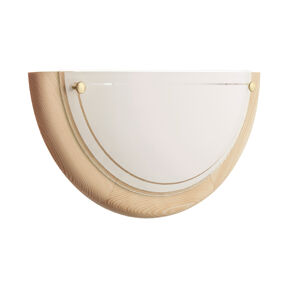 TEMAR LIGHTING Nástenné svietidlo K1D z borovicového dreva a skla