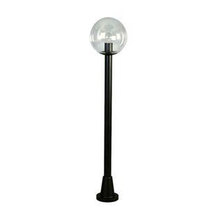Albert Leuchten Chodníkové svietidlo číra krištáľová guľa, čierne