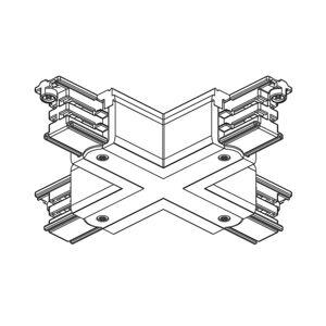 GLOBAL X-konektor 3-fázová prívodná koľajnica Noa čierny